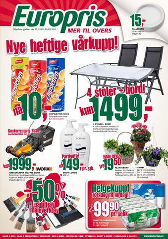 Ungdommelig Europris tom 25mai by Postkassereklame.no - issuu EZ-55