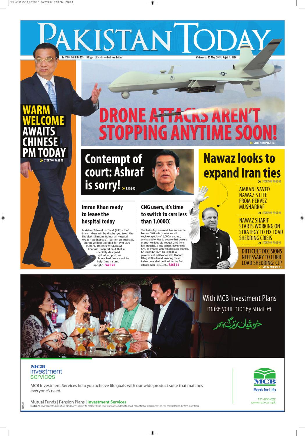 E-paper Pakistantoday 22nd May, 2013 by Pakistan Today - issuu
