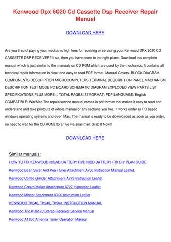 kenwood a707 q6 and a707a major mixer workshop service repair manual