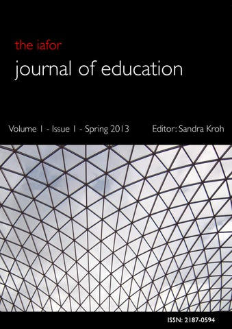 IAFOR Journal of Education Volume1 - Issue 1 - Spring 2013 by IAFOR