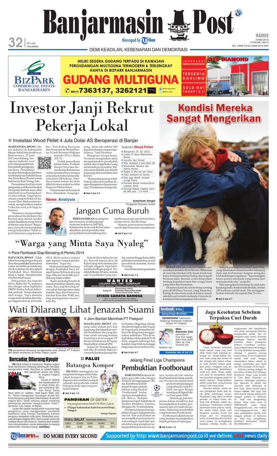 Banjarmasin Post Edisi Kamis 23 Mei 2013 By Issuu Krezi 24 Kaos Celana Motif 4 Tentara Inggris
