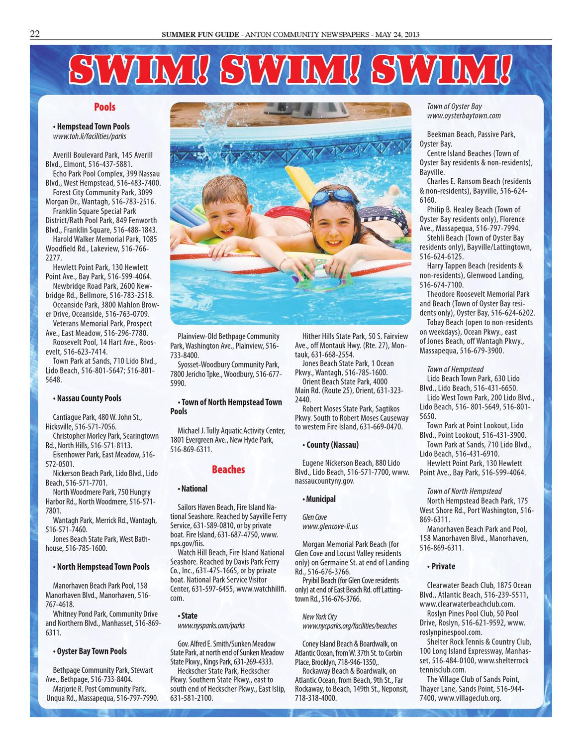 Summer Fun Guide: 2013 by Anton Community Newspapers - issuu