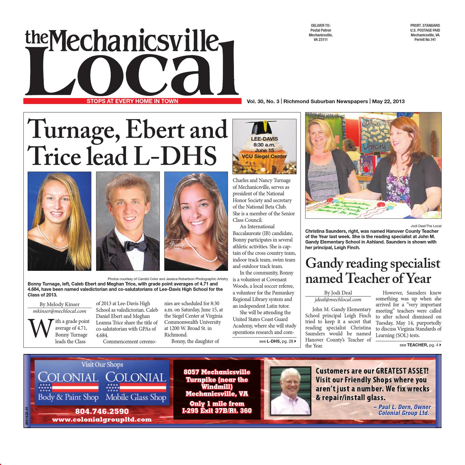 05/22/2013 by The Mechanicsville Local - issuu
