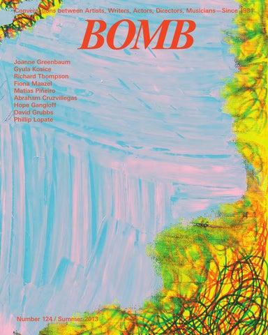 Bomb 124 By Bomb Magazine Issuu