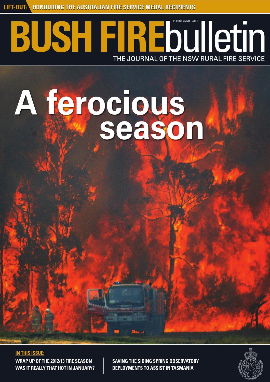 Bush Fire Bulletin (2013) Volume 35 No 1 by NSW Rural Fire