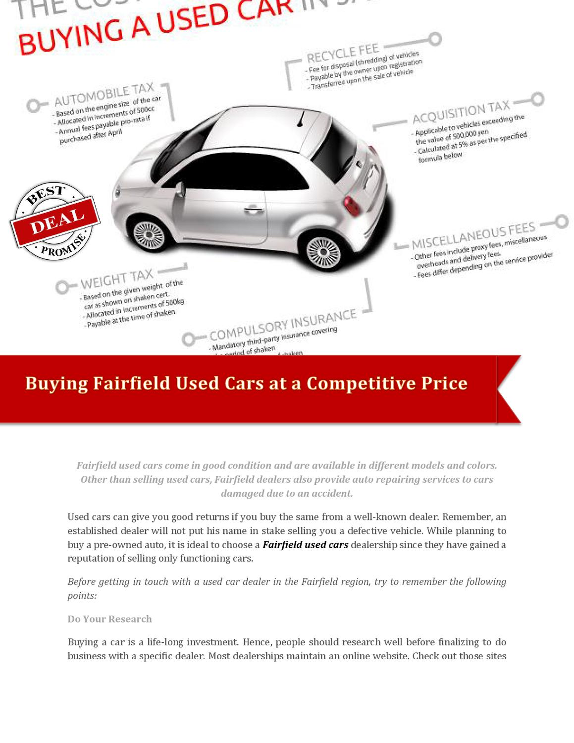 Dealerships That Buy Cars >> Buying Fairfield Used Cars At A Competitive Price By Dixon