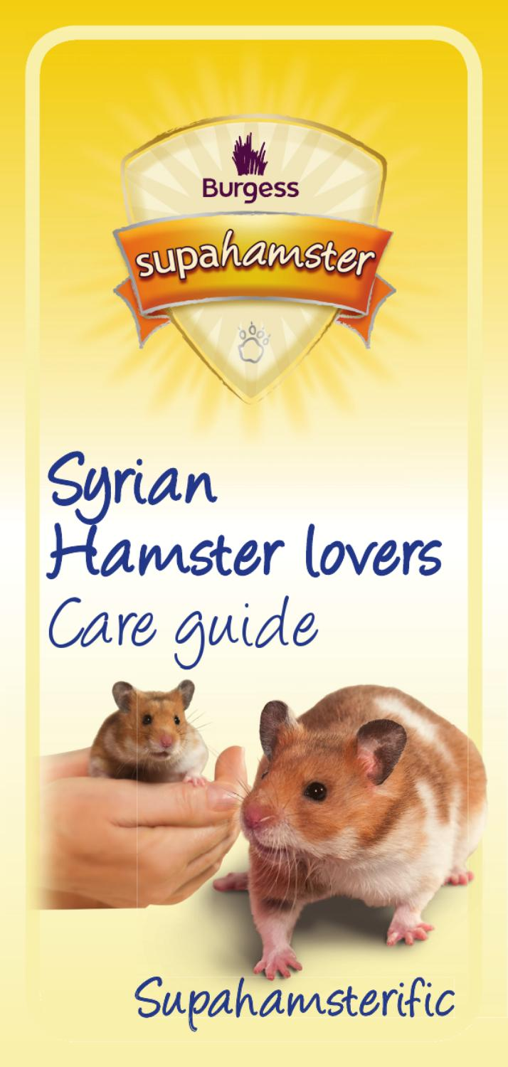 Supahamster Care Guide by Burgess PetCare - issuu