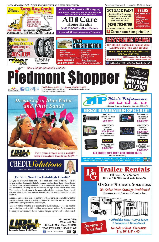 Piedmont Shopper 5 23 13 by piedmont shopper - issuu