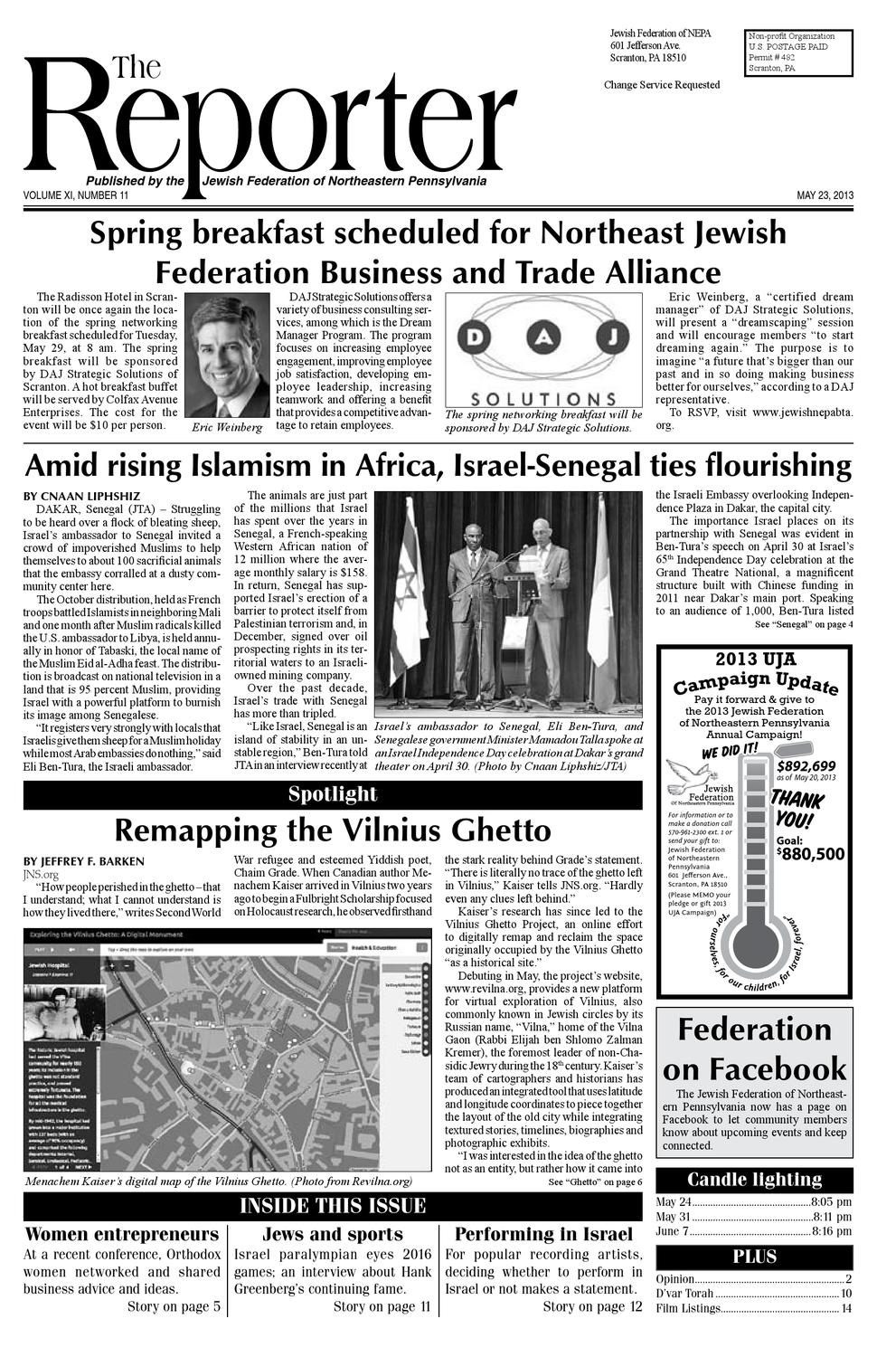 May 20, 2013 Edition of the Reporter by Becky Schastey - issuu