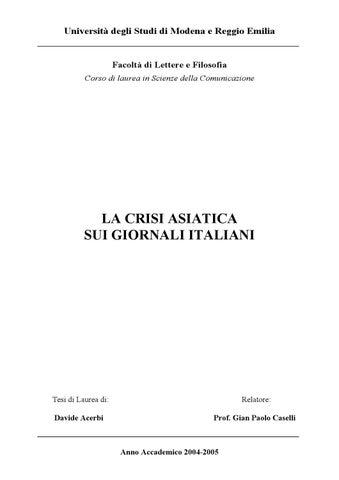 La crisi asiatica sui giornali italiani by Davide Acerbi - issuu 19ec8bdc956