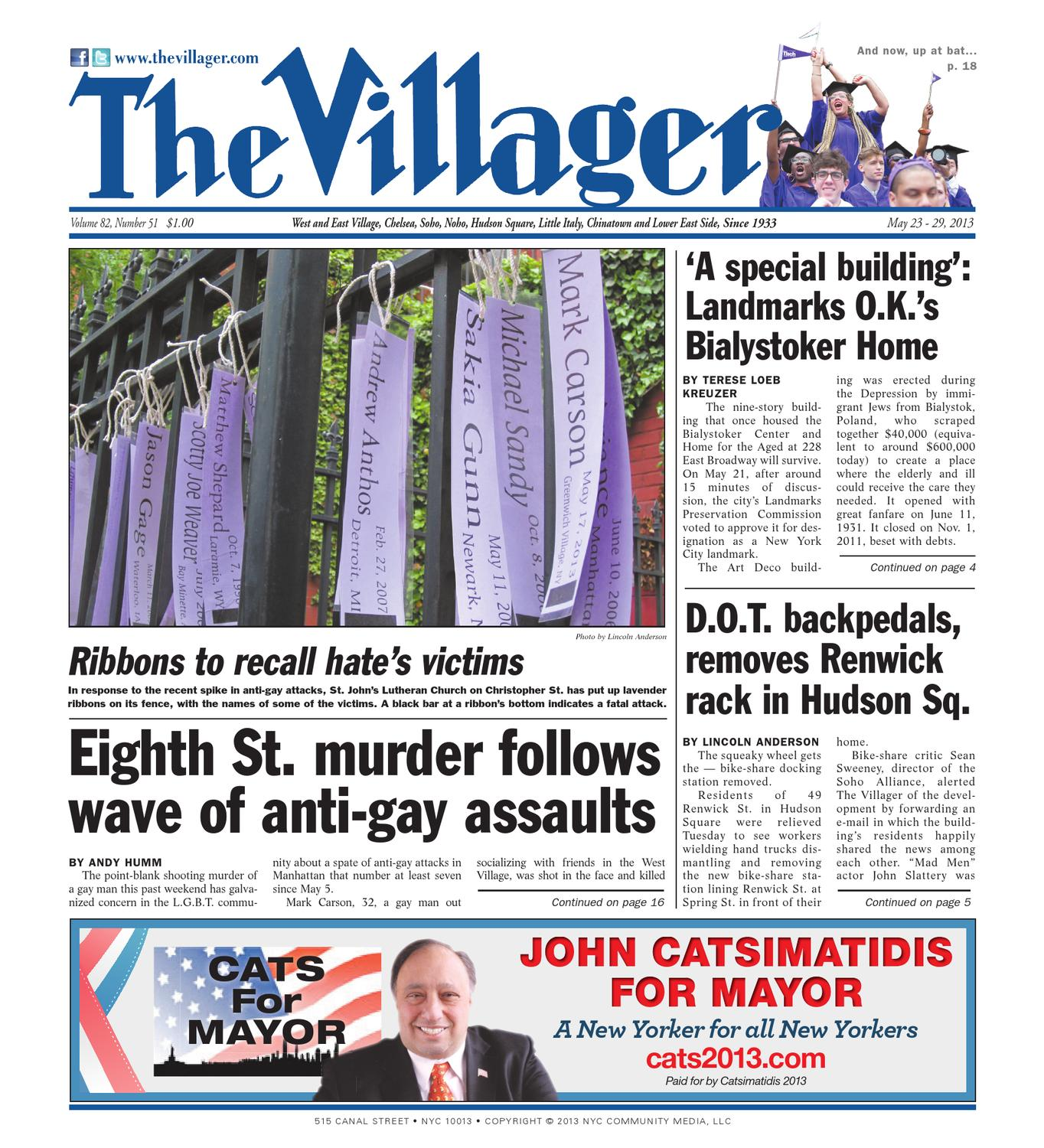 May 23, 2013 The Villager by Schneps Media - issuu