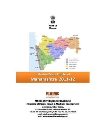 State Profile of Maharashtra by MSMEDI Mumbai - issuu