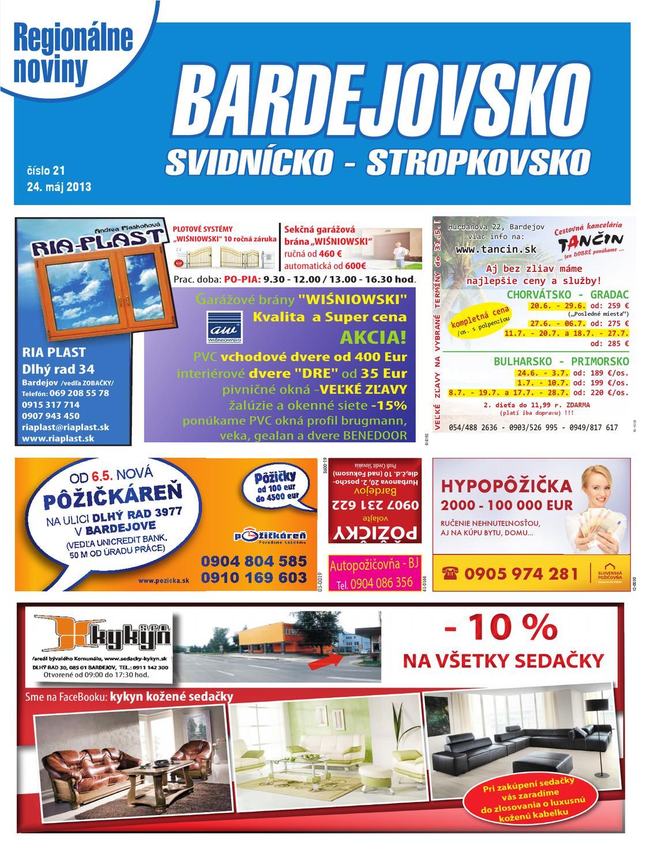 8bcc89b1af58 Bardejovsko 13-21 by REGIONPRESS - Bardejovsko - issuu