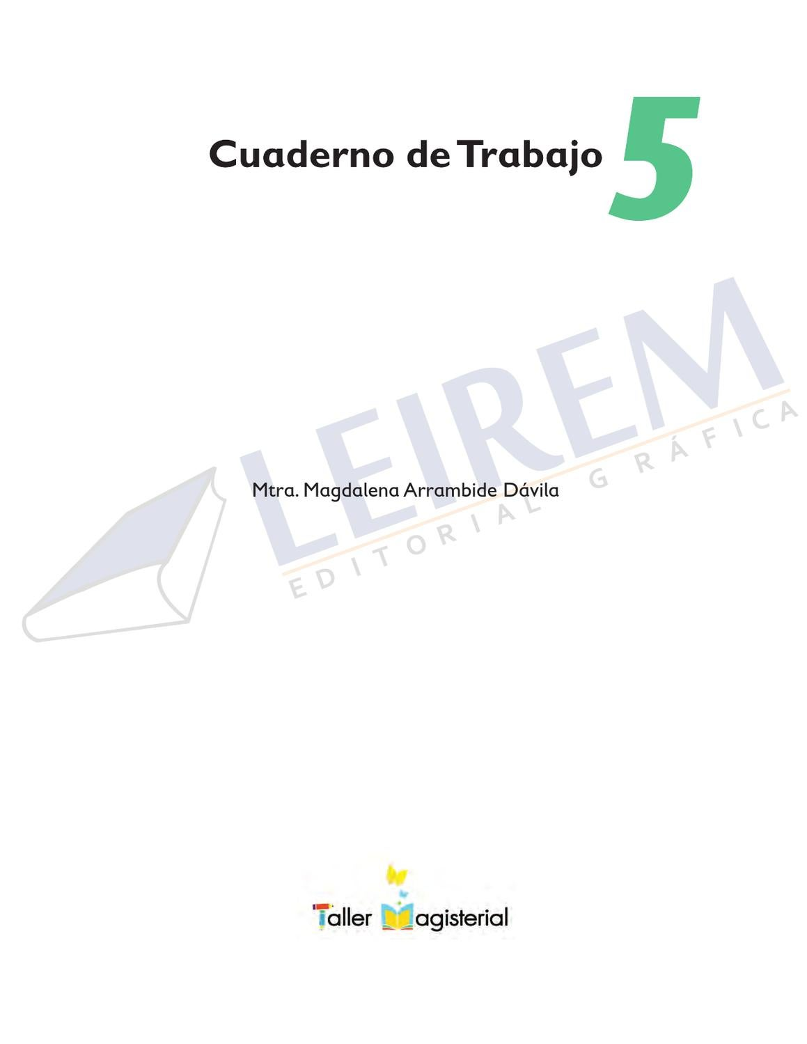 CUADERNO DE TRABAJO 5o. by EDITORIAL GRAFICA LEIREM - issuu