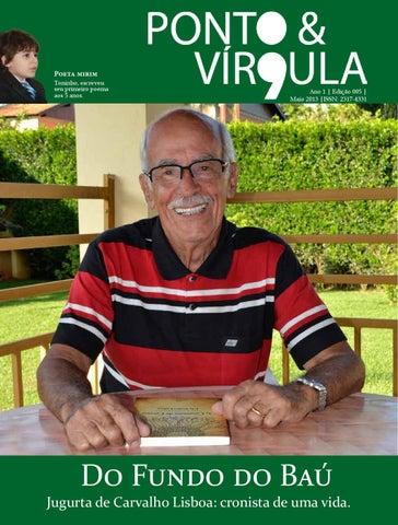 """Cover of """"Revista Ponto & Vírgula - Ano 1 - Edição 05 - Maio 2013"""""""