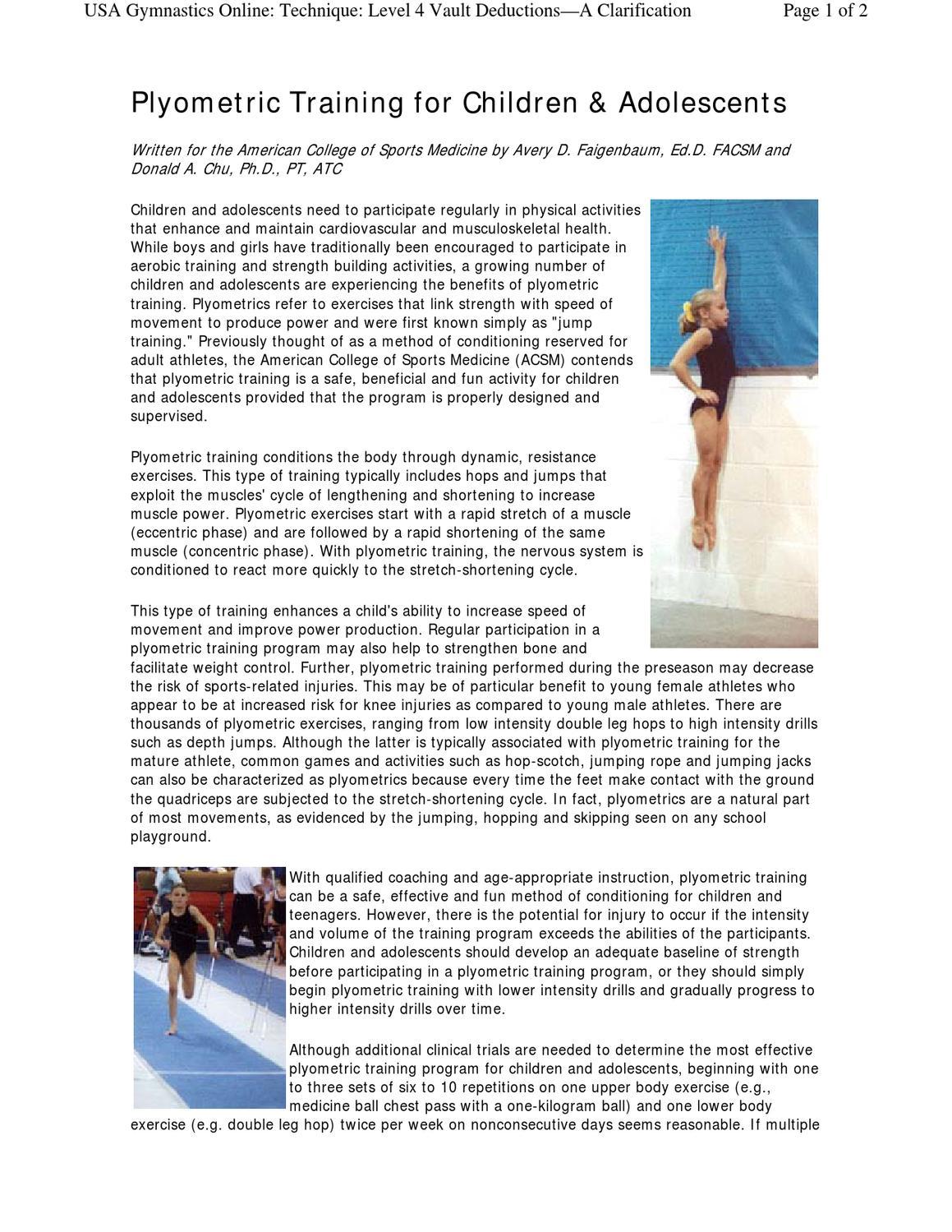 Plyometric Training in Children by Cheryl Hoffman - issuu