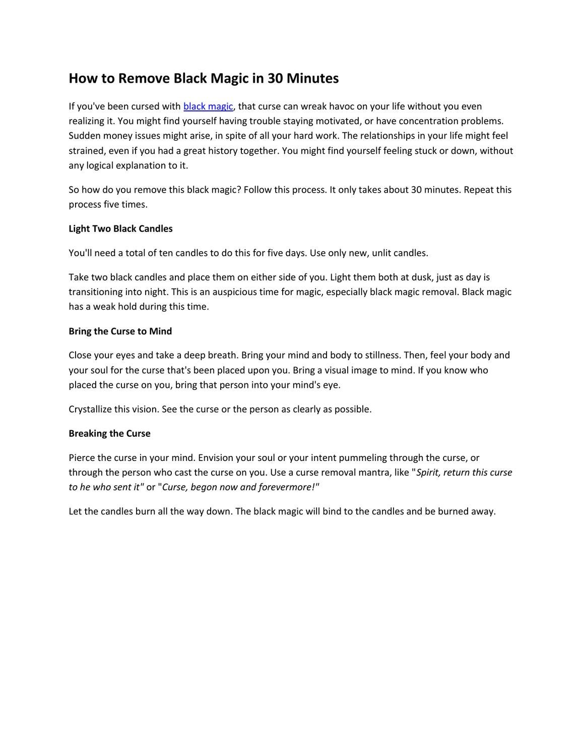 How to Remove Black Magic in 30 Minutes by Thanh Huyền - issuu