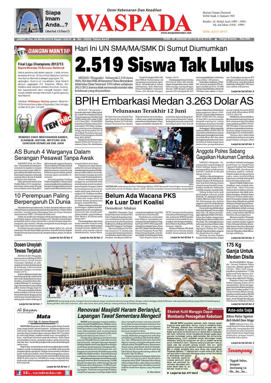 Waspada Jumat 24 Mei 2013 By Harian Issuu Produk Ukm Bumn Madu Super Az Zikra