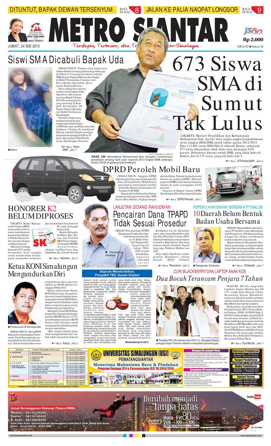 Epaper Metro Siantar Online By Issuu Tcash Vaganza 28 Sambal Bawang Bu Rudy Khas Surabaya
