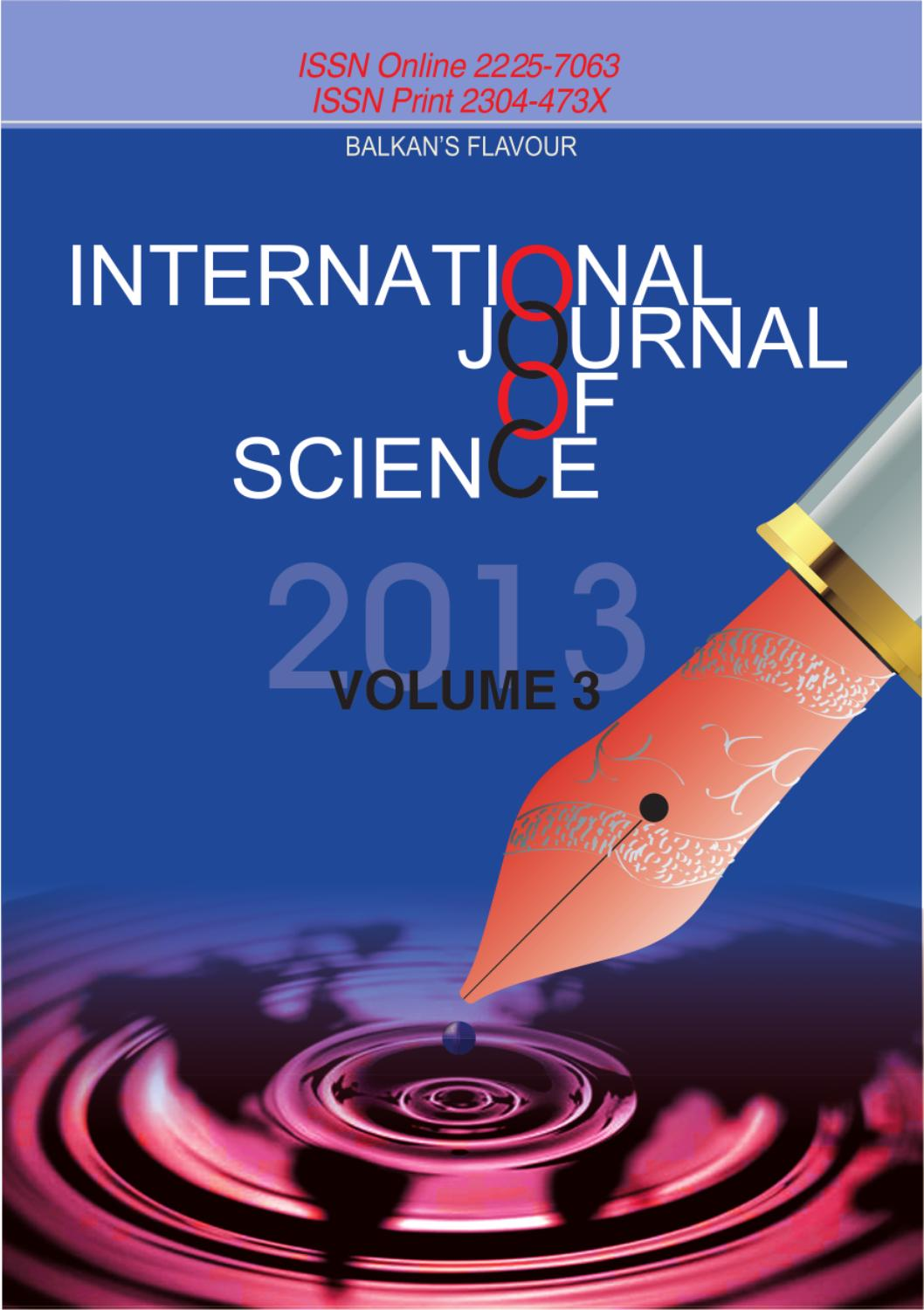 International journal of science third issue by science - De montfort university international office ...