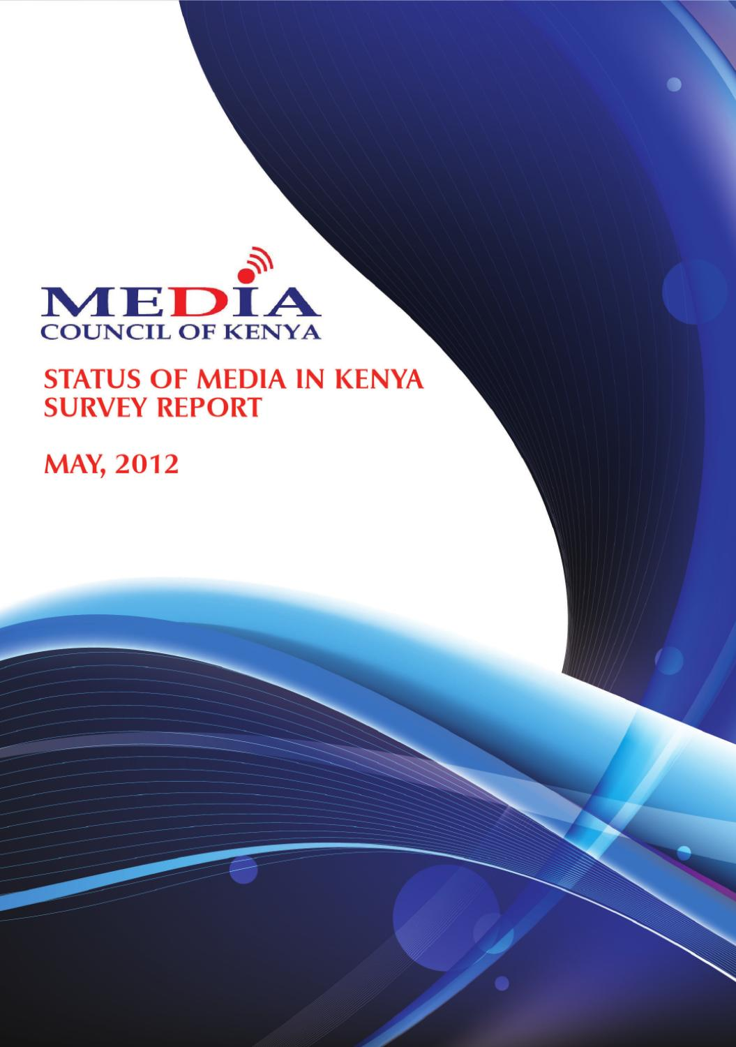 Status Of The Media In Kenya Report By Media Council Of Kenya Issuu