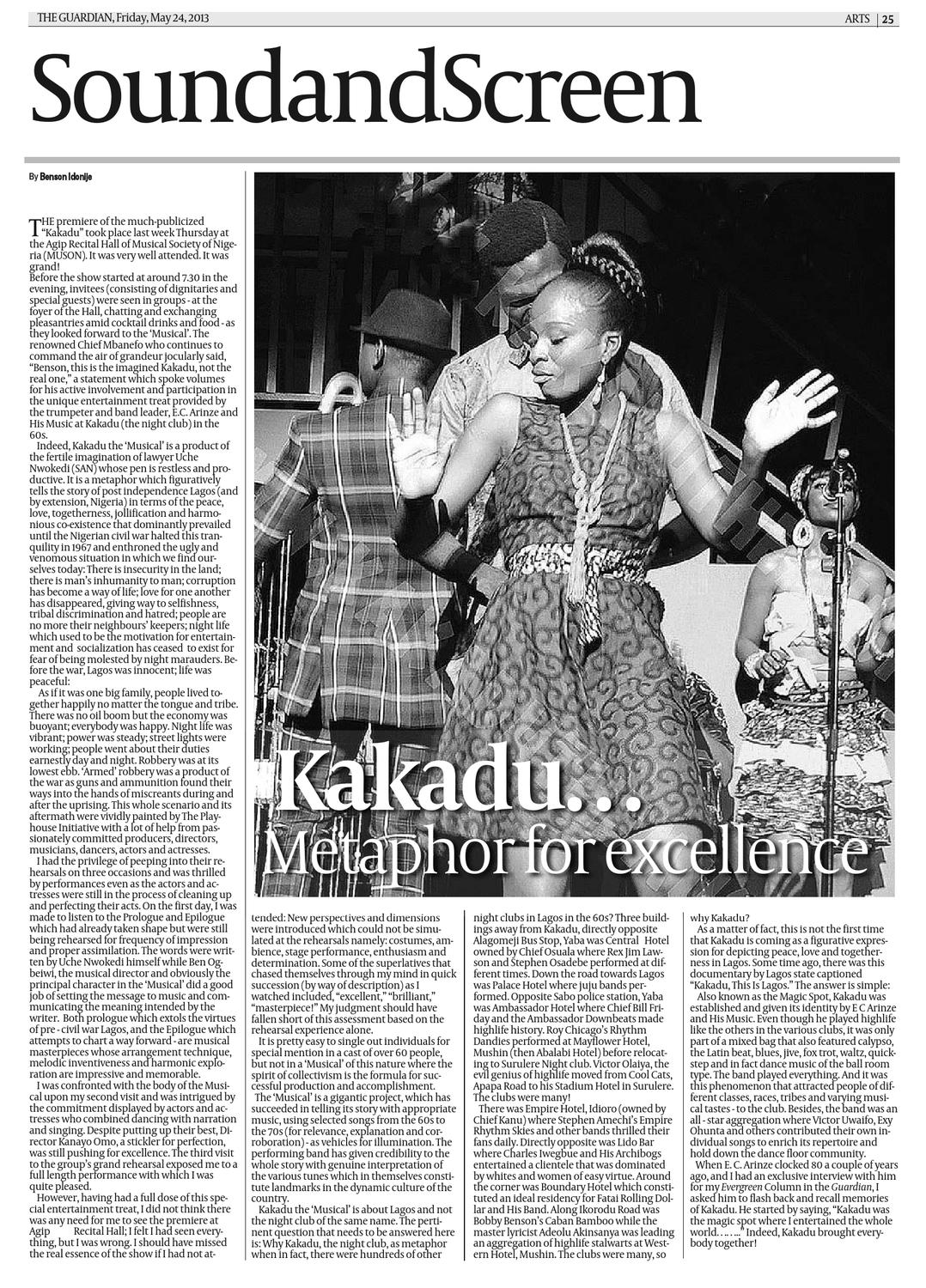 Fri 24 May 2013 The Guardian Nigeria by The Guardian