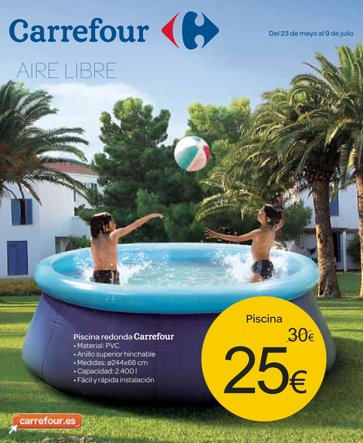 Catalogo carrefour piscinas 2013 by for Piscinas hinchables alcampo