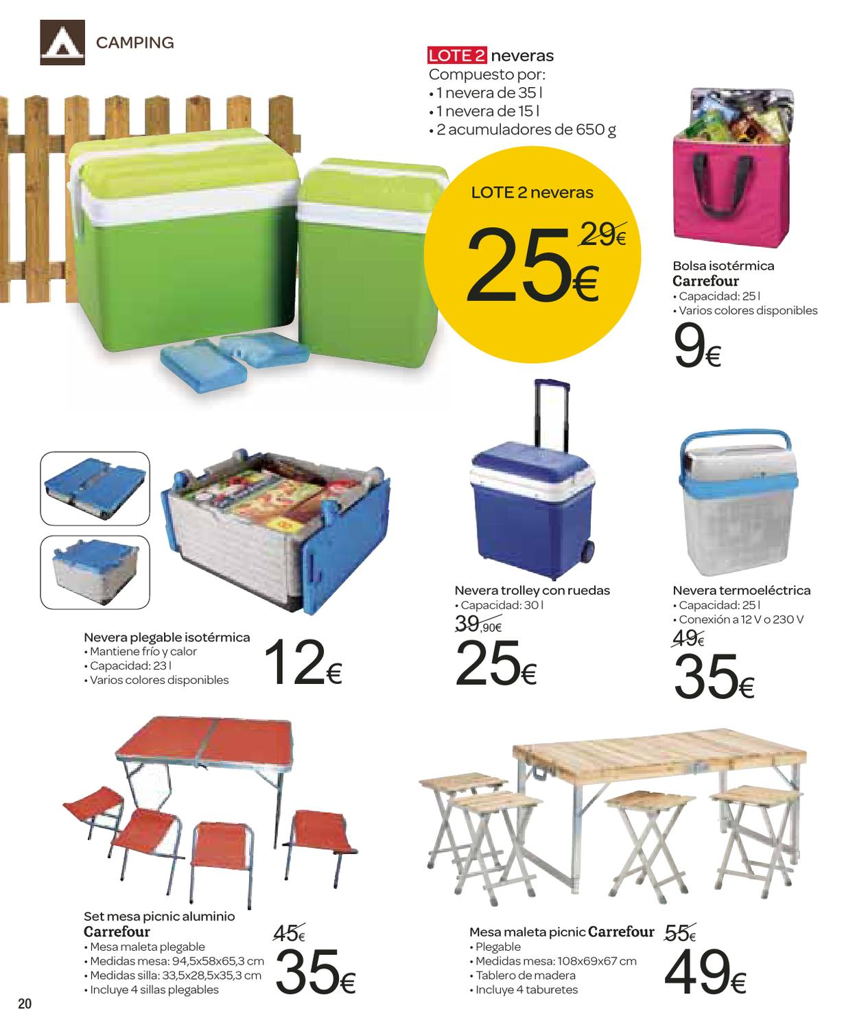 Catalogo carrefour piscinas 2013 by issuu - Mesa nevera carrefour ...