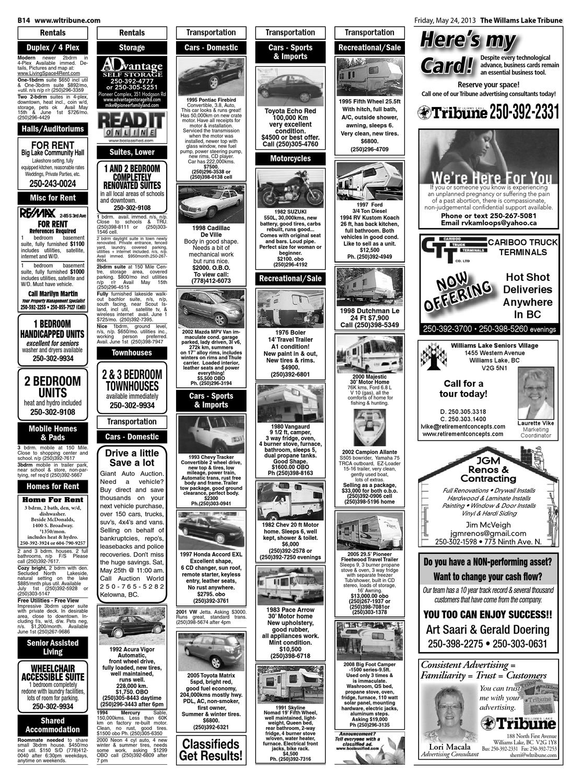 Williams Lake Tribune, May 24, 2013 by Black Press Media Group - issuu