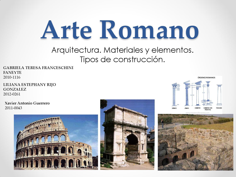 Arquitectura materiales y tipos de contruccion romano by for Tipos de escaleras arquitectura