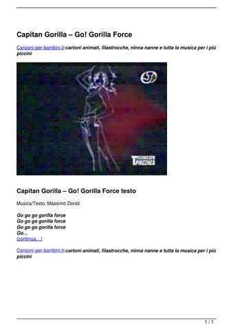 Capitan gorilla ? go! gorilla force by canzoni per bambini issuu