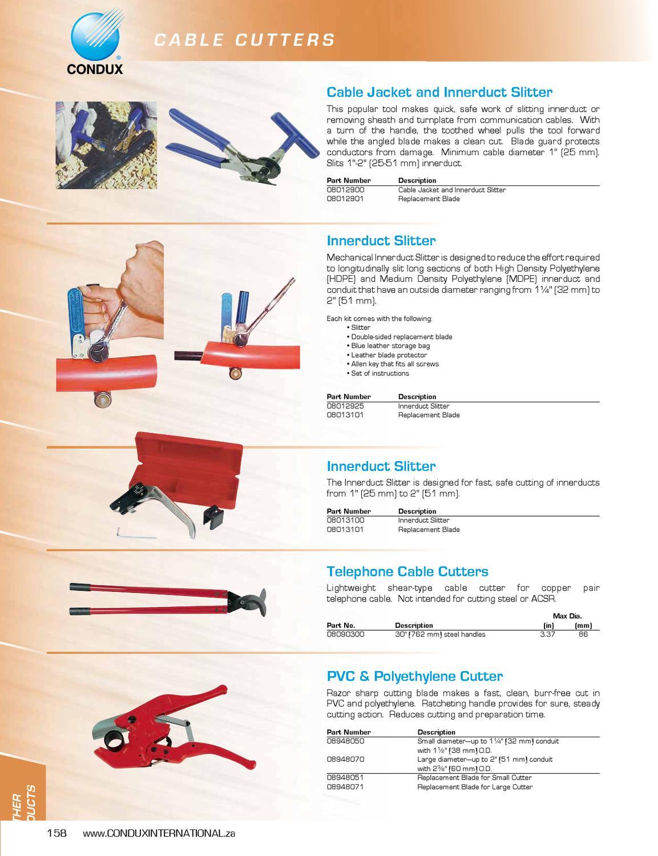 Condux International Sa Catalogue By Condux International