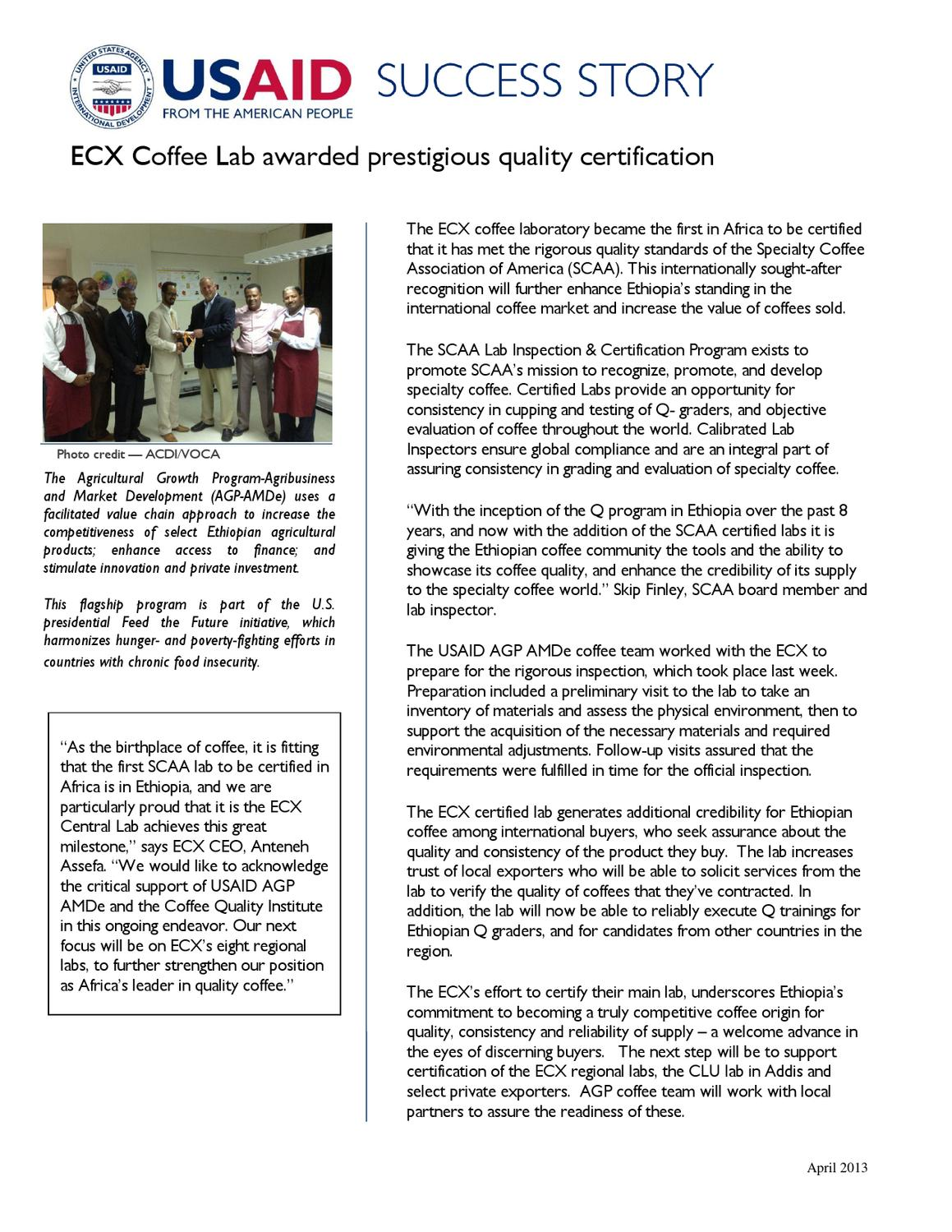Ecx Coffee Lab Awarded Prestigious Certification By Alexandra Katona