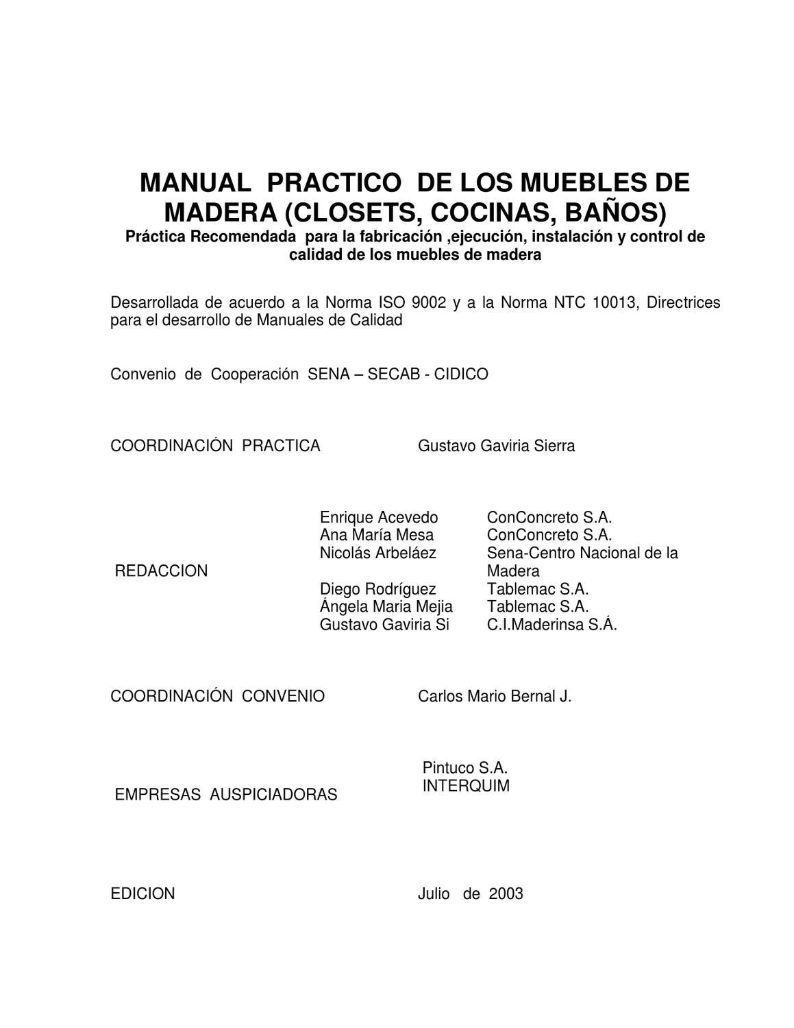 Catalogo Art Culos Normalizados Inoxidables 2011 Wasi By Javier  # Muebles Nicolas