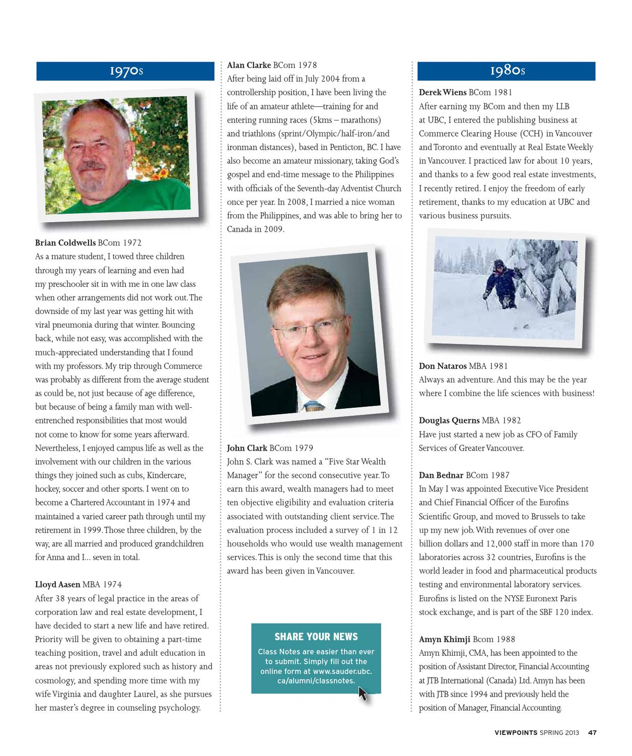 Viewpoints, Spring 2013 - Sauder School of Business by UBC Sauder