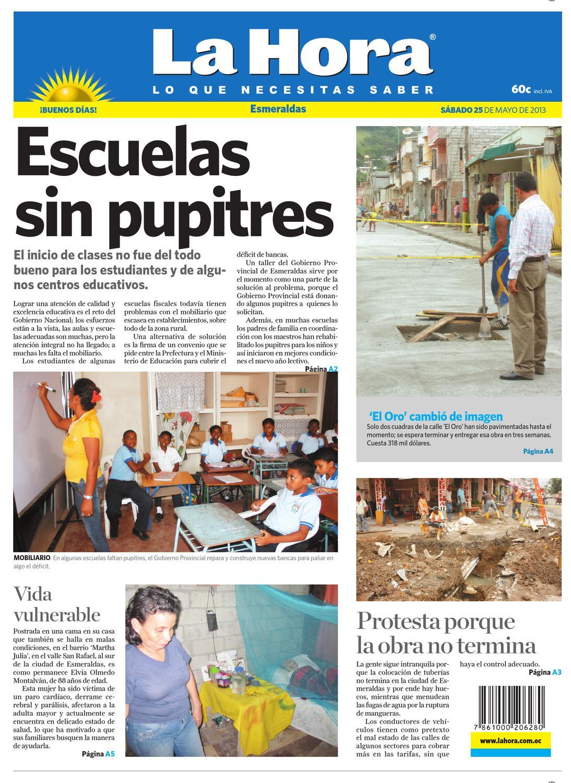 Edición impresa Esmeraldas del 25 de mayo de 2013