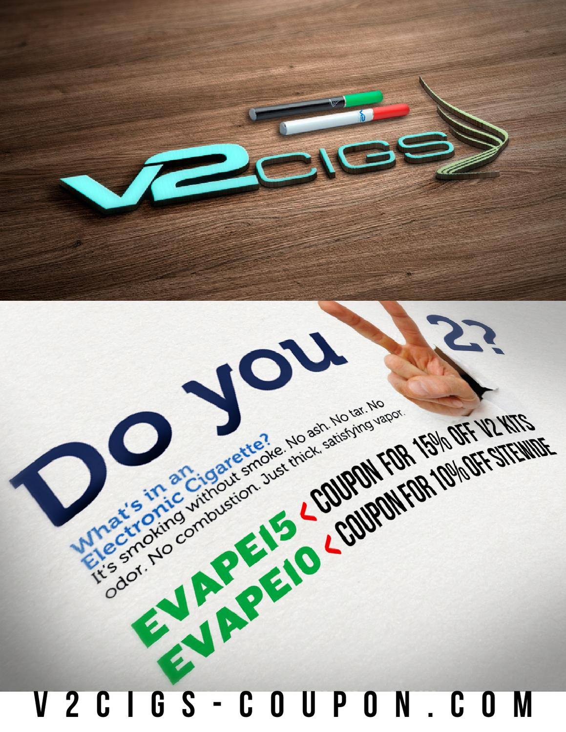 V2 e cigarette coupon code