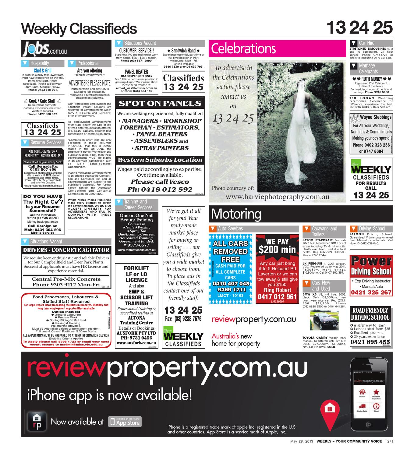 Brimbank & North West Weekly 28-05-2013 by The Weekly Review - issuu