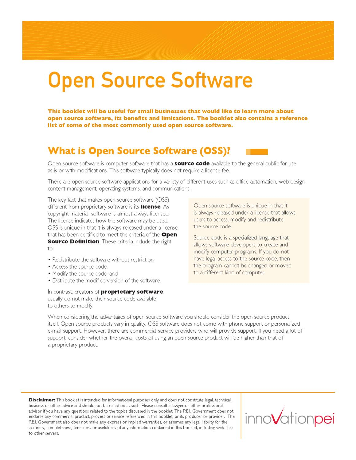 open source software (oss) by province of prince edward island - issuu