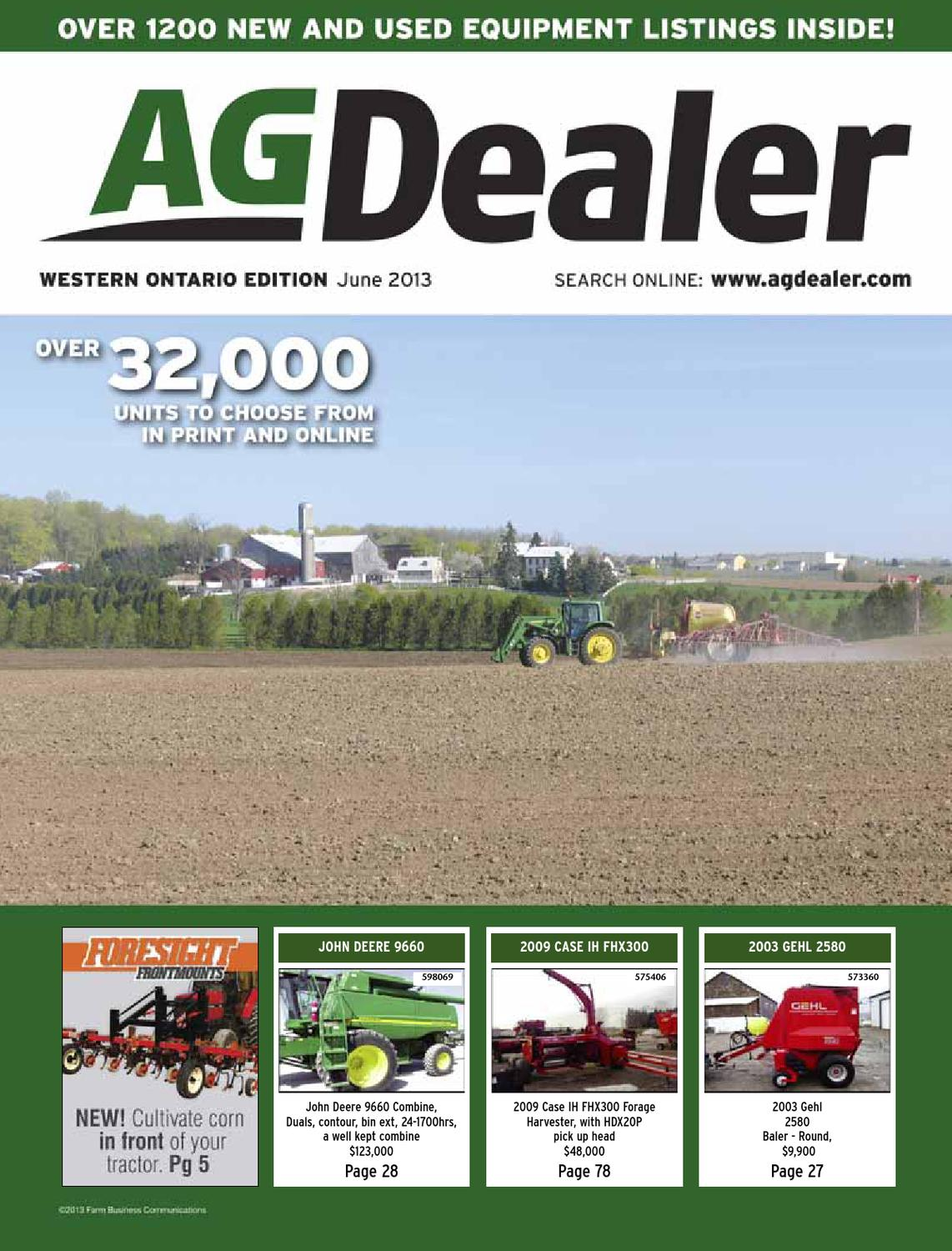 AGDealer Western Ontario Edition, June 2013 by Farm Business Communications  - issuu