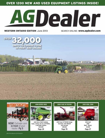 AGDealer Western Ontario Edition, June 2013 by Farm Business