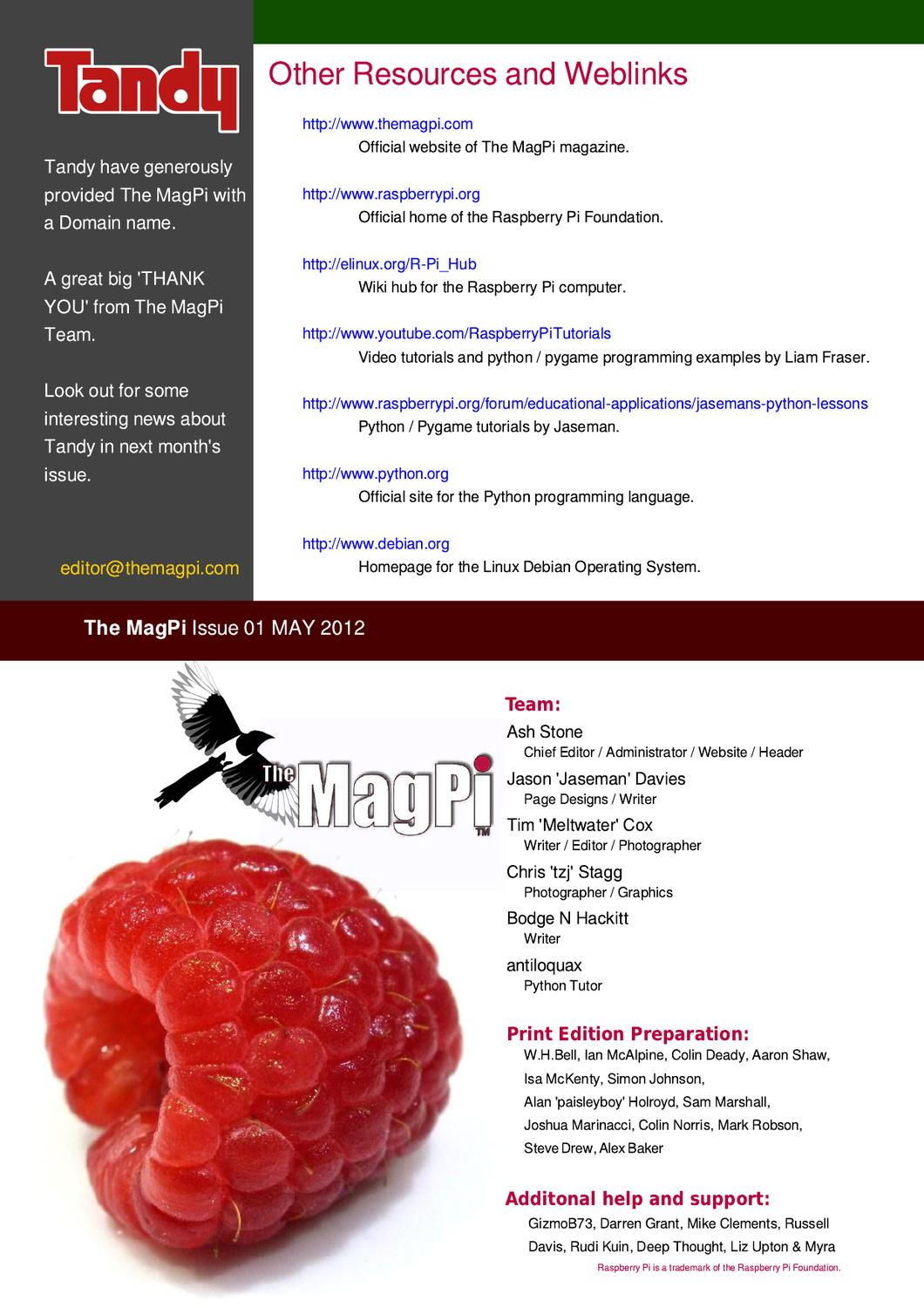 The MagPi Issue 1 by The MagPi - issuu