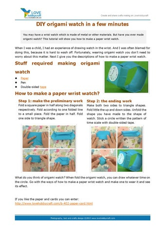 how to make origami watch image collections origami