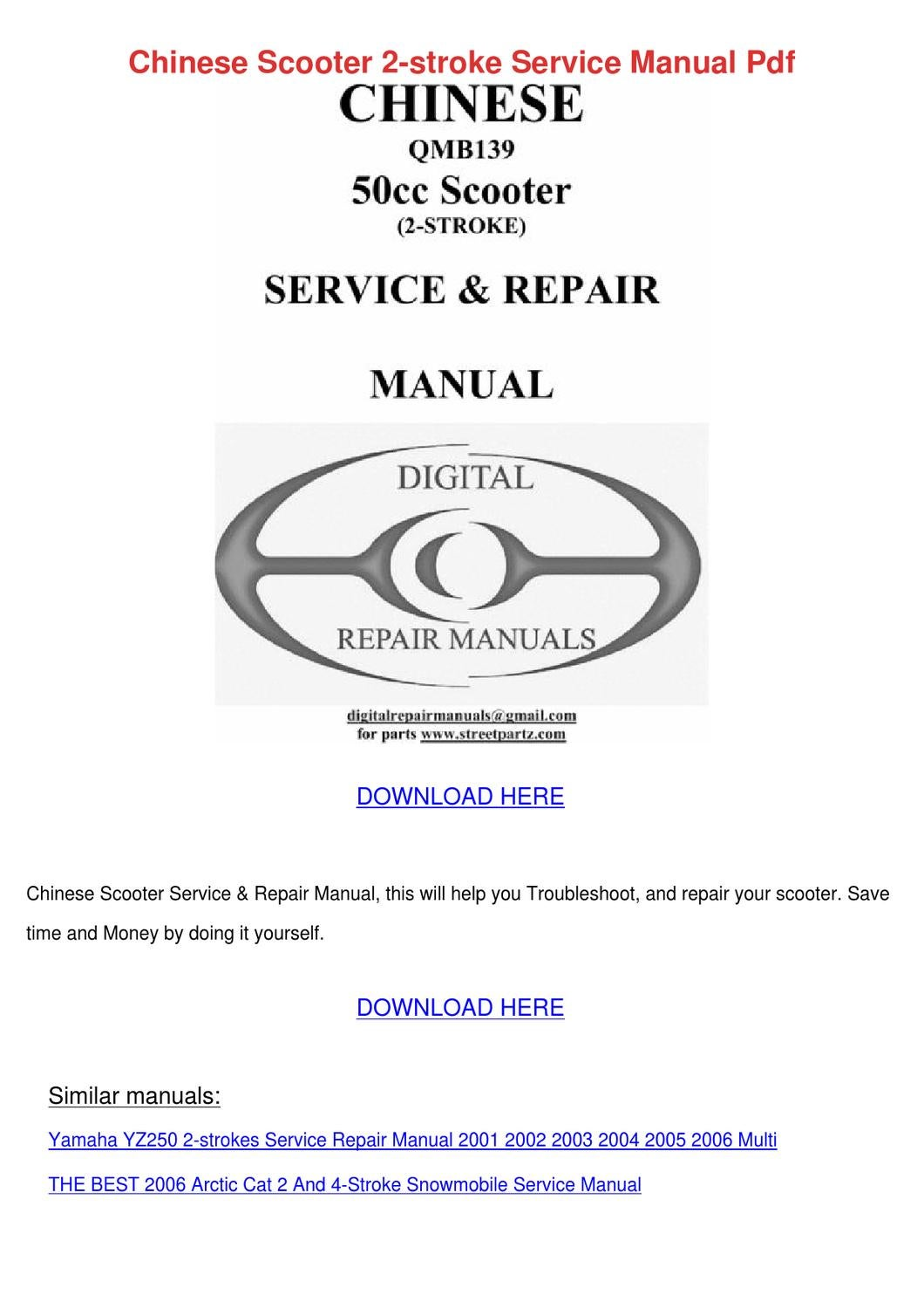 Chinese Scooter 2 Stroke Service Manual Pdf By Ashley Poffenberger 1965 Tecumseh Engine Diagram Issuu