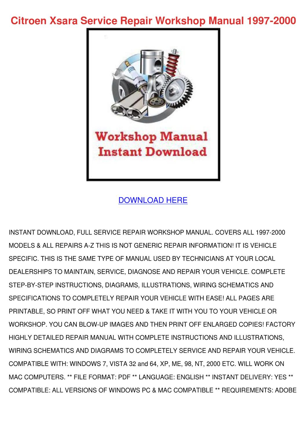 Citroen Xsara Service Repair Workshop Manual by Ashley Poffenberger - issuu