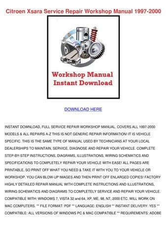 Citroen Xsara Service Repair Workshop Manual By Ashley Poffenberger Issuu
