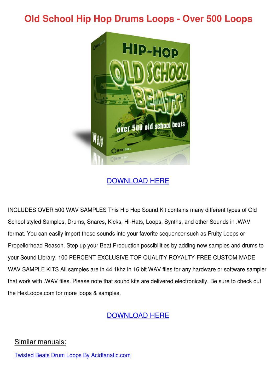 Old School Hip Hop Drums Loops Over 500 Loops by Herlinda