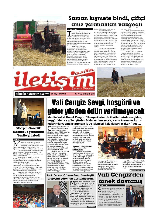 28 Mayis 2013 Sali Gazete Sayfalari By Mardin Iletisim
