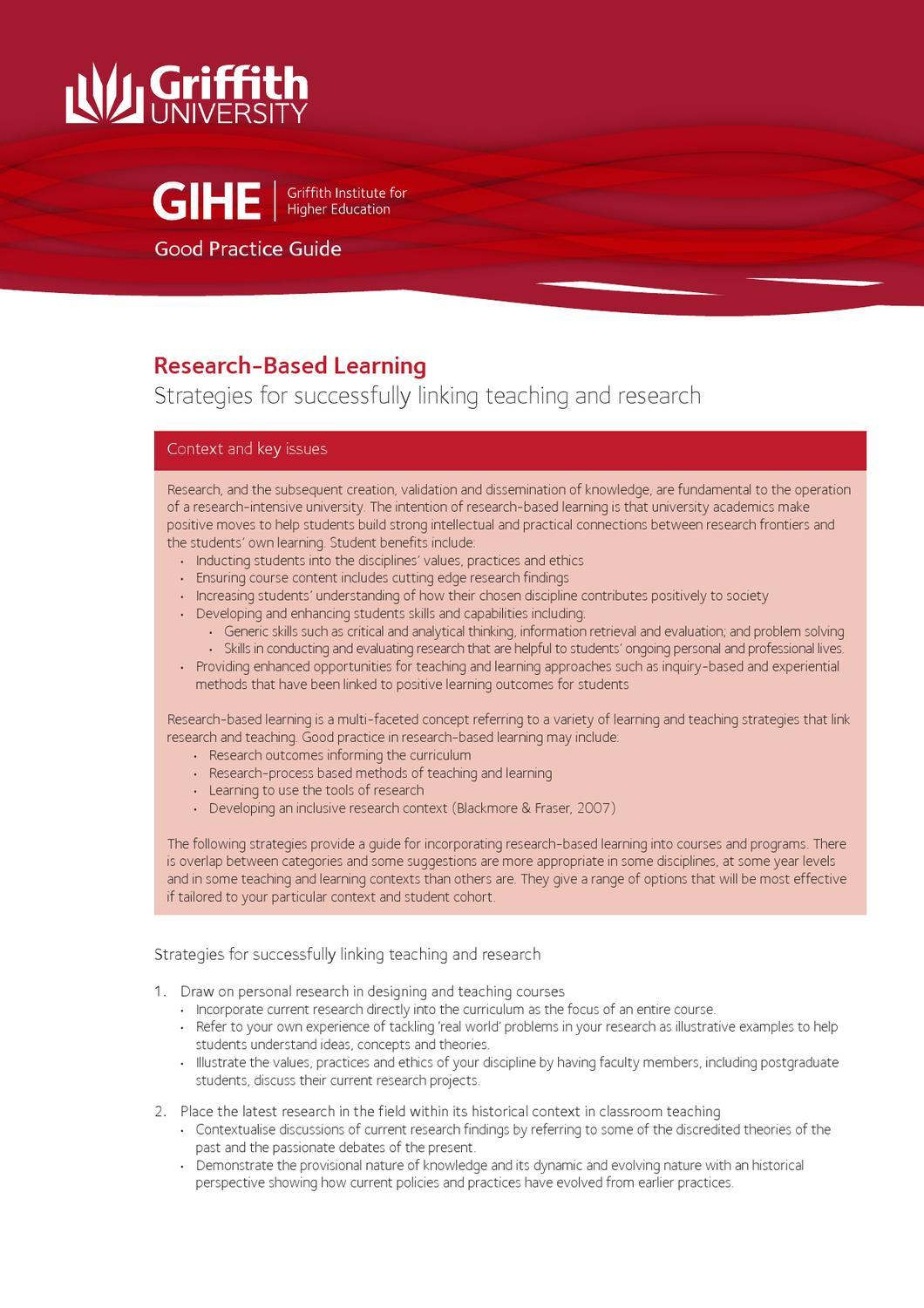 Research Based Learningstrategies For Successfully Linking