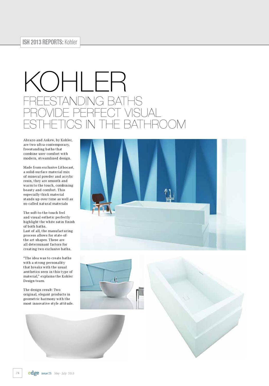 EDGE Kitchen & Bathroom Magazine Issue 25 by Amed - issuu